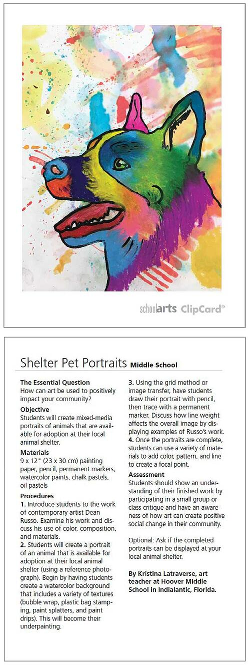 SchoolArts Magazine ClipCards